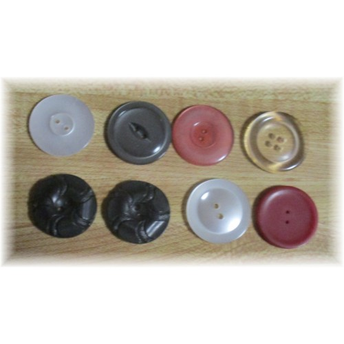 Assorted Color Buttons Eight to a Bag  2