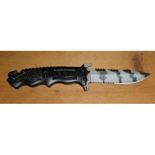 Tac Force 8.5 inch Urban Camo Spring Assisted Folding Pocket Knife