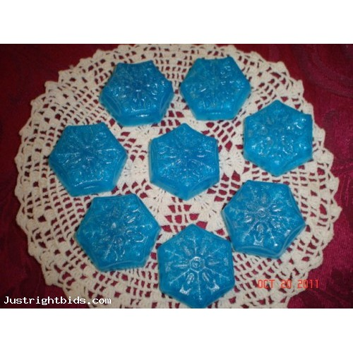 Fairy Dust (type) Scent Handmade Glycerin Soap 8 Snowflakes