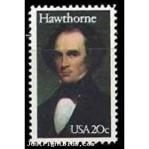 1983 - Nathaniel Hawthorne 20 Cents Stamp Scott 2047 Literary Arts
