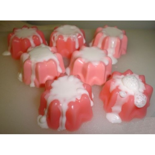 Mulberry Scent Handcrafted Glycerin Shea Butter Soap 7 Little Cakes