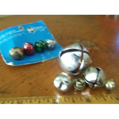 Lot of 11 Vintage/Retro Craft Metal Bells Various size & Age