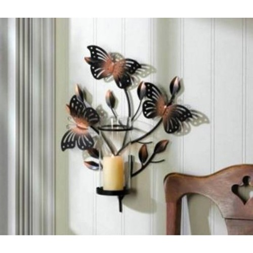 10015472 Gallery of Light Bronze Sculptured Butterfly Wall Sconce