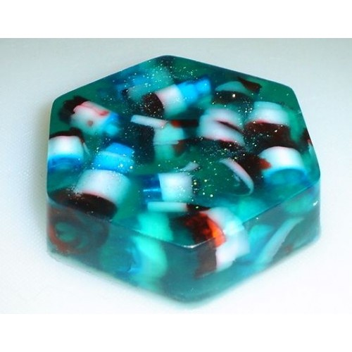 After the Storm Scent Glycerin Shea Butter Soap Hexagon with Ribbons