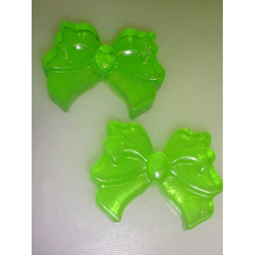 Australian Bamboo Grass Scent Pack of 2 Handcrafted Glycerin Soap Bows Green Color
