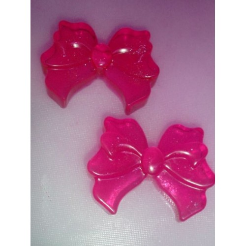 Cherry Nutmeg Scent Pack of 2 Handcrafted Glycerin Soap Bows Pink Color