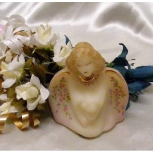 3630 QVC Fenton Floral Guardian Angel Bust