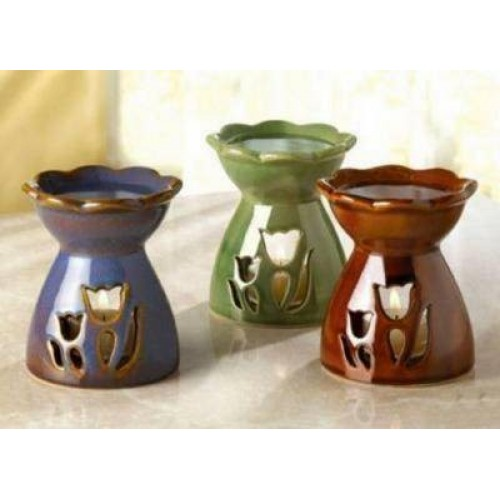 33646  Tulip Flower Oil Warmer Set