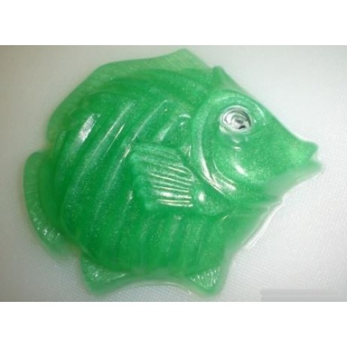 Oriental Garden Scent Handcrafted Glycerin Soap 'Fish with an Eye' Green Color