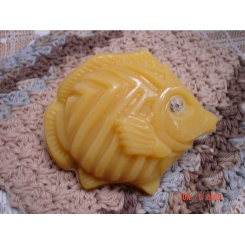 Fresh Squeezed Orange Scent Handcrafted Glycerin Shea Butter Soap 'Fish with an Eye' Gold Color
