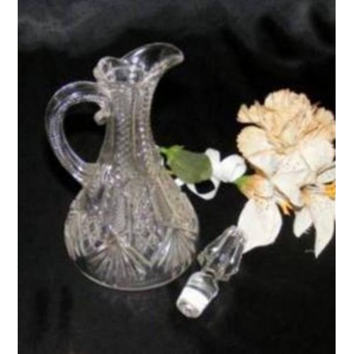 2698 EAPG Zipper Diamond Fan Cruet N Stopper