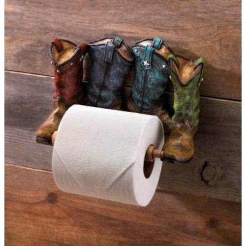 10016206 Western Boots Toilet Paper Holder