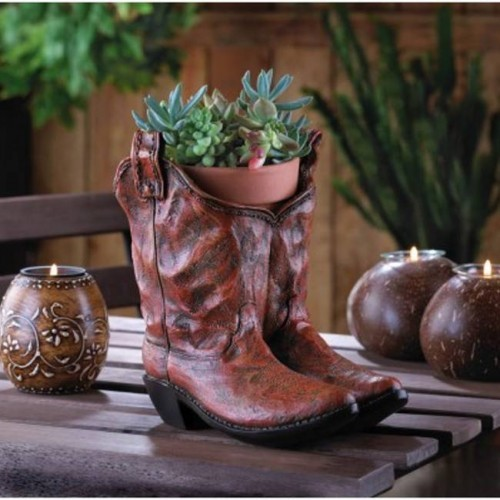 10015279 Summerfield Terrace Western Flare Cowboy Boots Planter