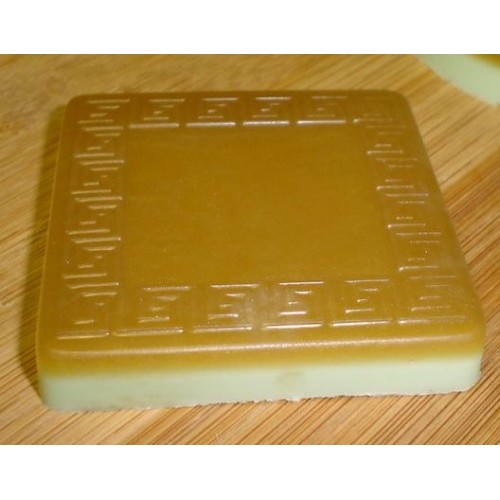 Cranberry Relish Scent Handcrafted Honey Glycerin Soap Greek Key Square Shape