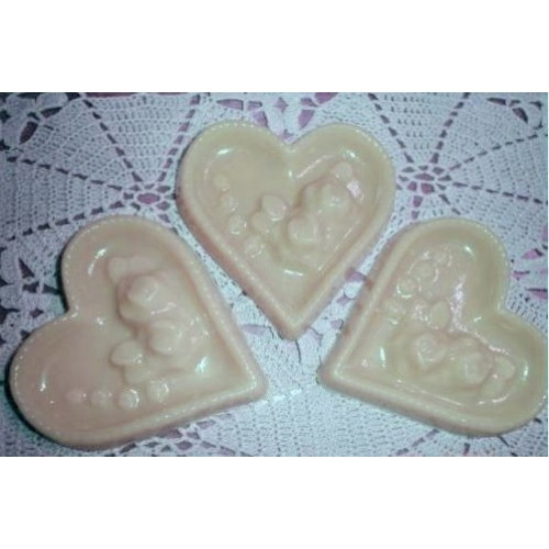 Fresh Squeezed Orange Scent Handmade Goats milk and Glycerin Soap Set of 3 Hearts