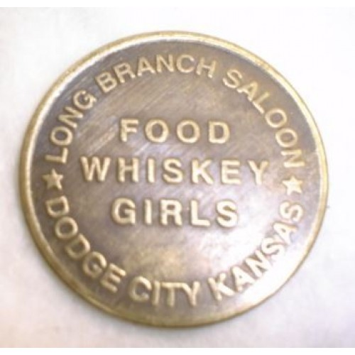 Replica Brothel Coin / Token LONG BRANCH SALOON DODGE CITY KANSAS