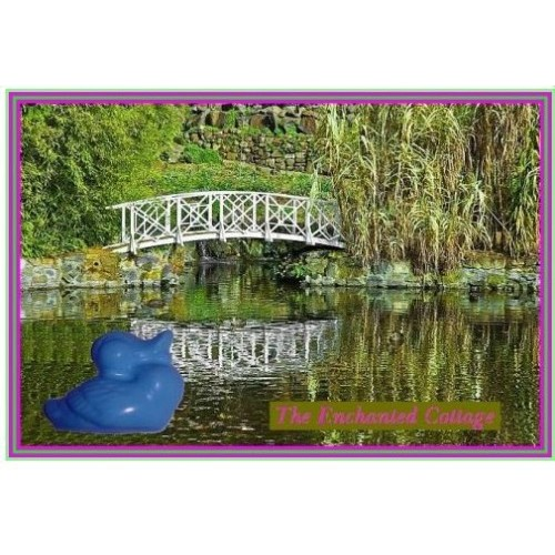 After the Storm Scent Handcrafted Glycerin Soap Duck Shape Blue Color