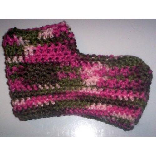 Pinks & Browns Lady Crochet Booties