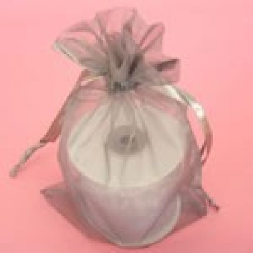 Dark Gray Organza Bag 4 x 6 Single