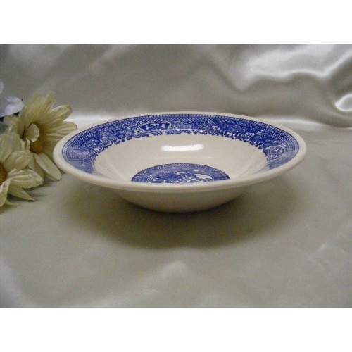1049 Jeannette Glass Blue Willow Cereal Bowl