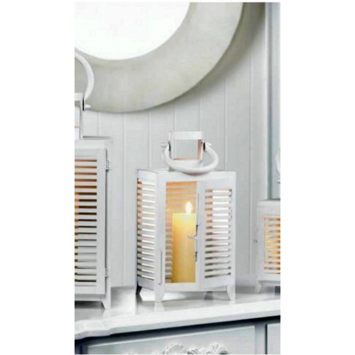 10018089 Gallery of Light White Horizon Lantern