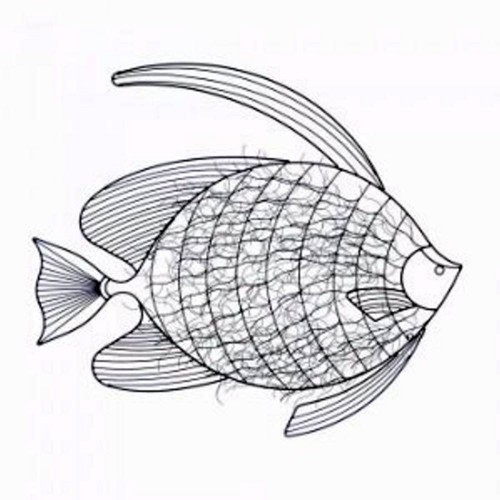10017852 Accent Plus Iron Wall Art Fish